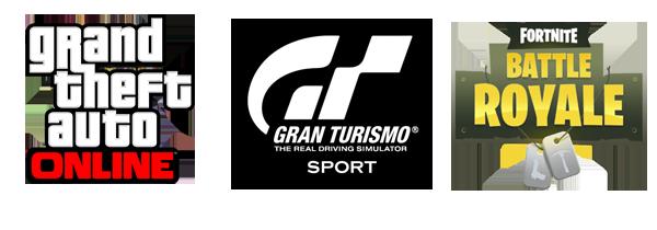 GTAO, Gt Sport & Fortnite