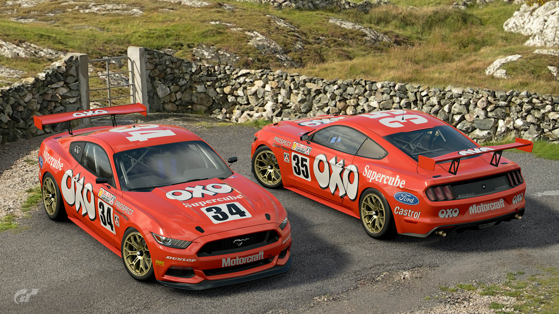 Oxo Motorsport 1987 ATCC Ford Mustang Liveries