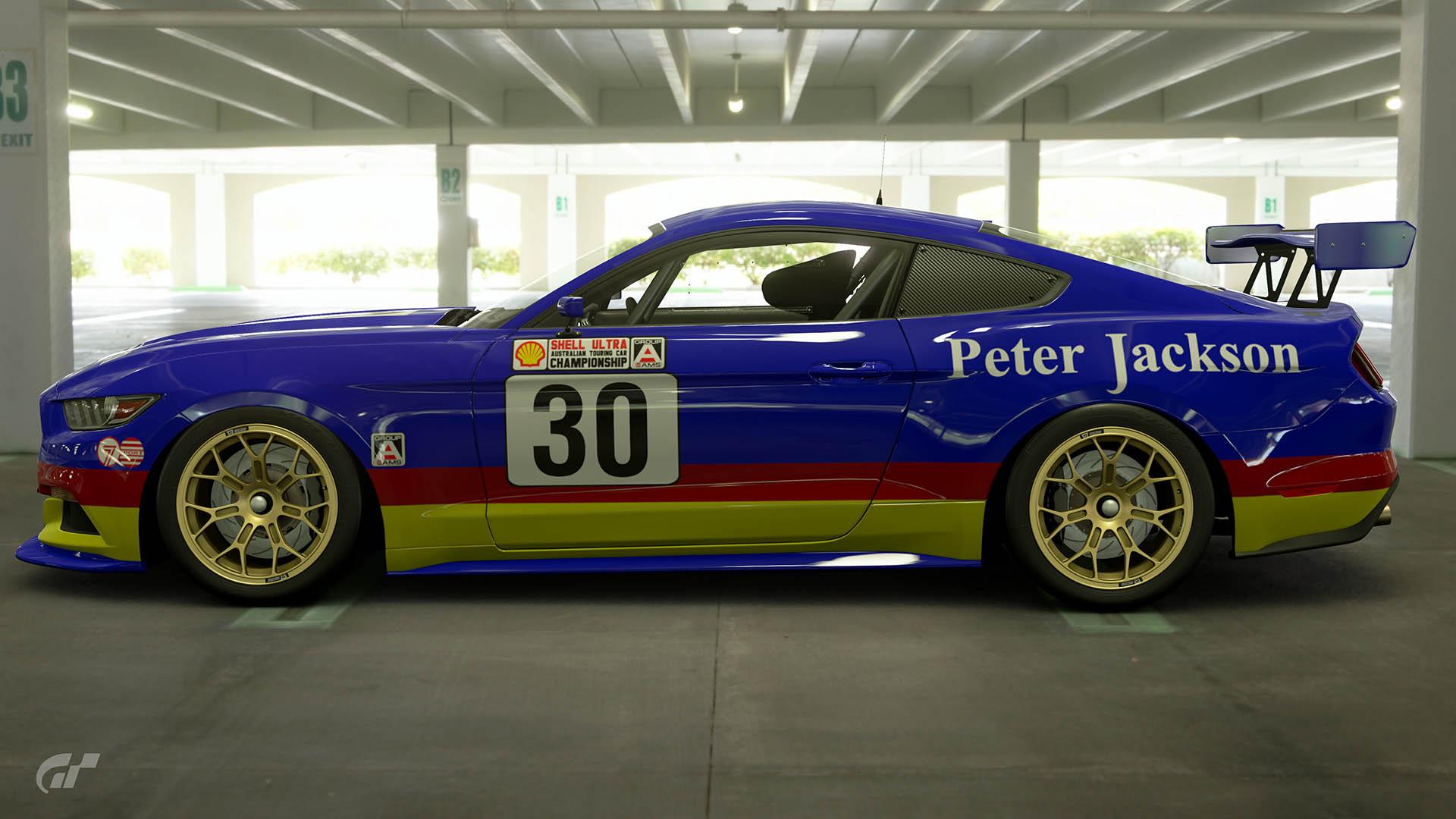 Glenn Seton Peter Jackson Racing 1989 Atcc Ford Mustang Livery