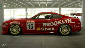 Chris Hodgetts Brooklyn Motorsport 1989 BTCC Ford Mustang Livery