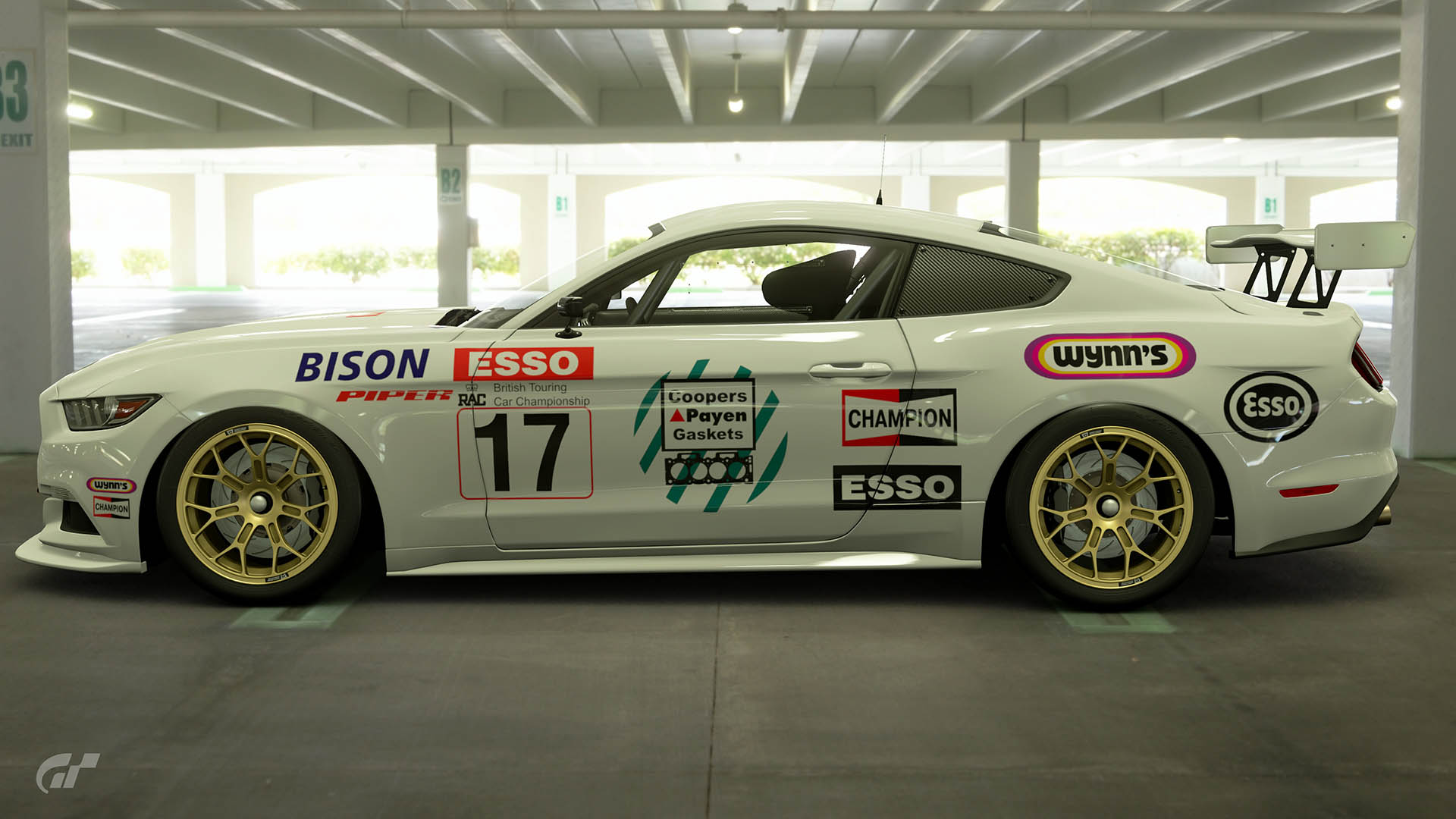 Mike O'Brien 1989 BTCC Ford Mustang