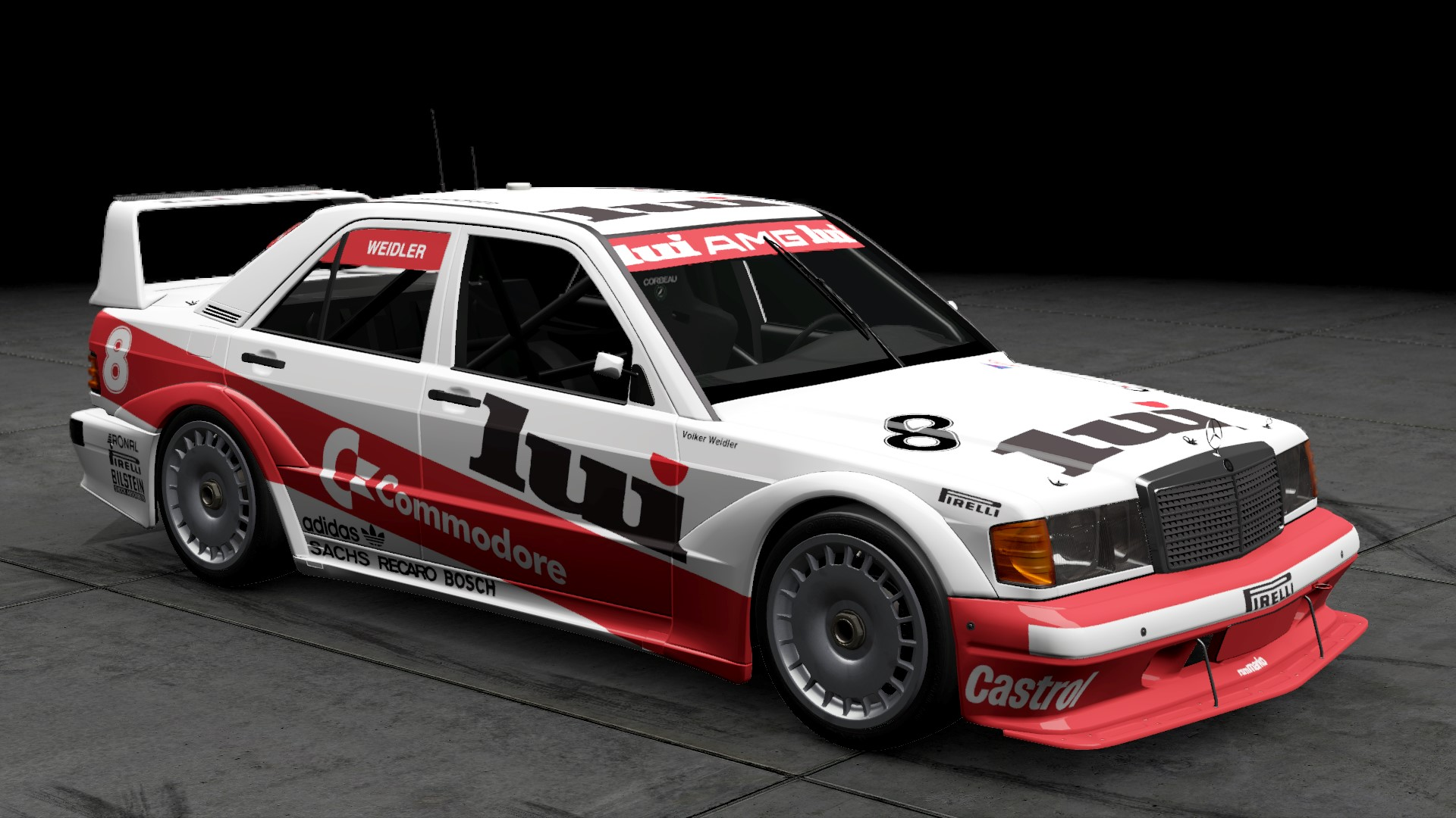 1986 DTM rsm marko Mercedes 190E Liveries