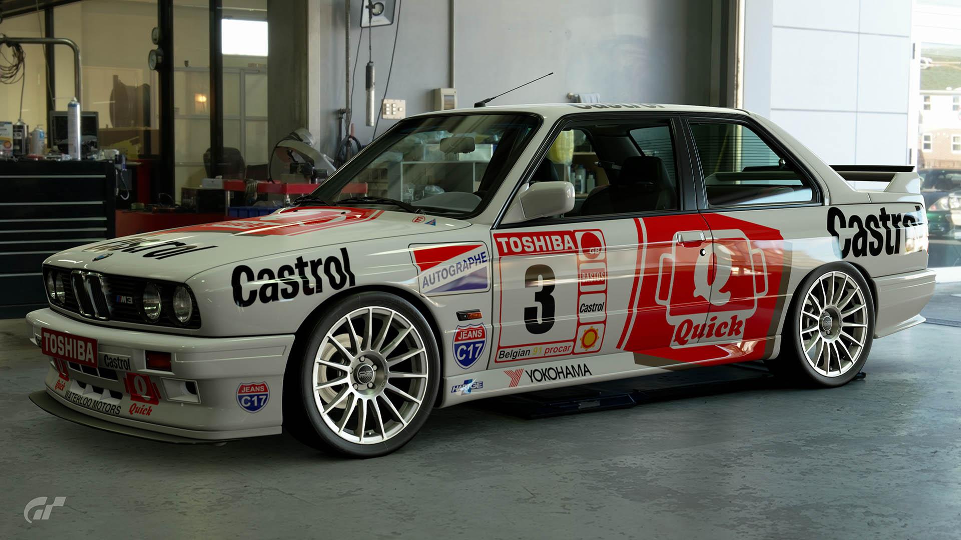 1991 Jean-Michel Martin Belgian Procar Hartge BMW M3-260 Livery