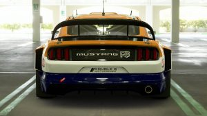 Malcolm Wilson Total Gold Ford Mustang Tribute Livery