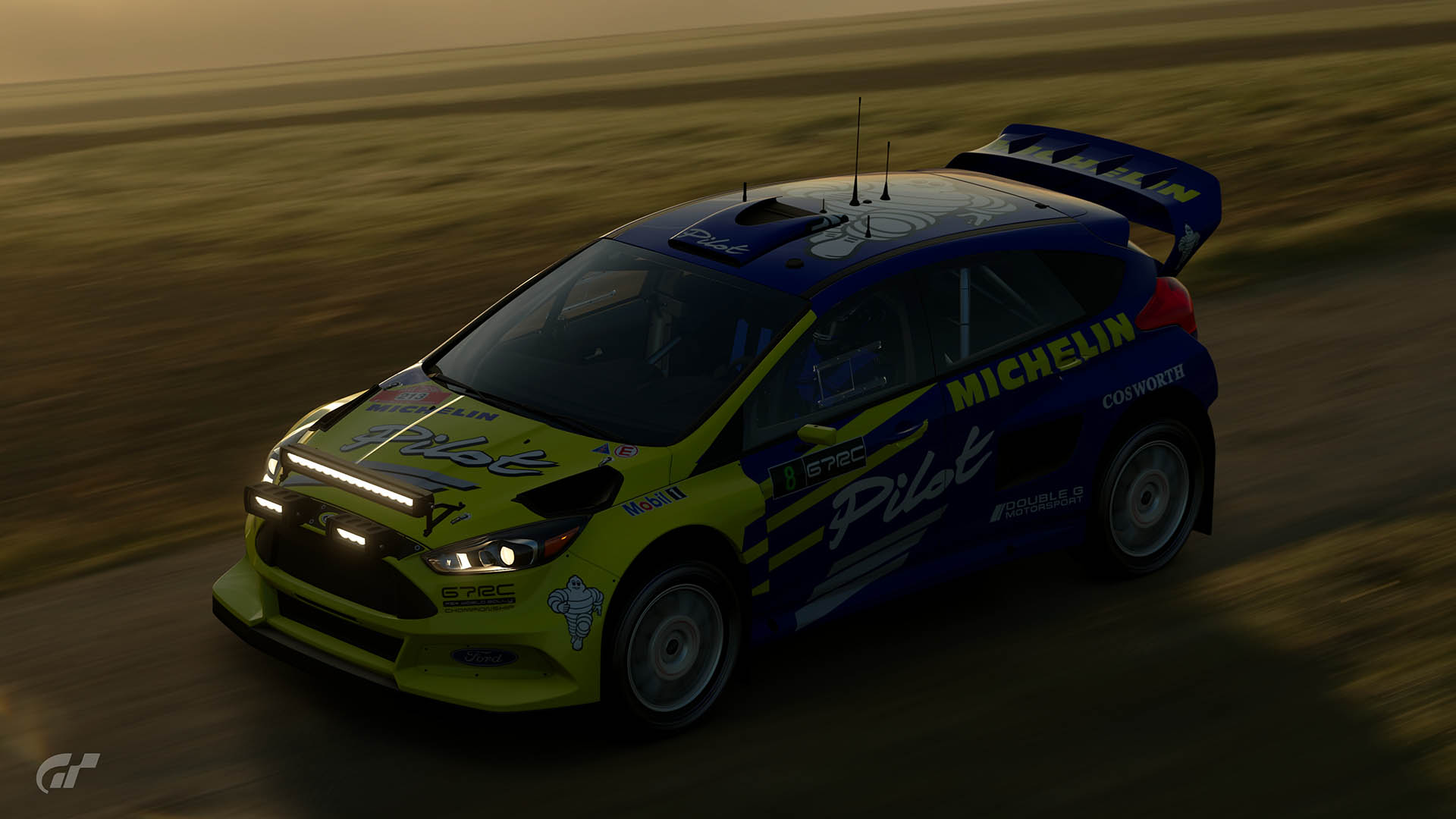 Malcolm Wilson Michelin Pilot Ford Focus Tribute Livery
