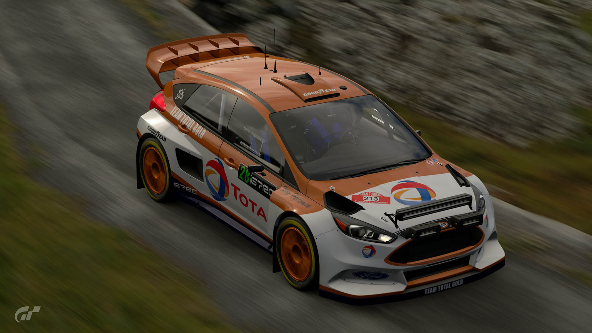 Malcolm Wilson Total Gold Ford Focus Tribute Livery ...