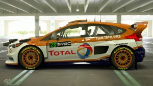 Malcolm Wilson Total Gold Ford Focus Tribute Livery