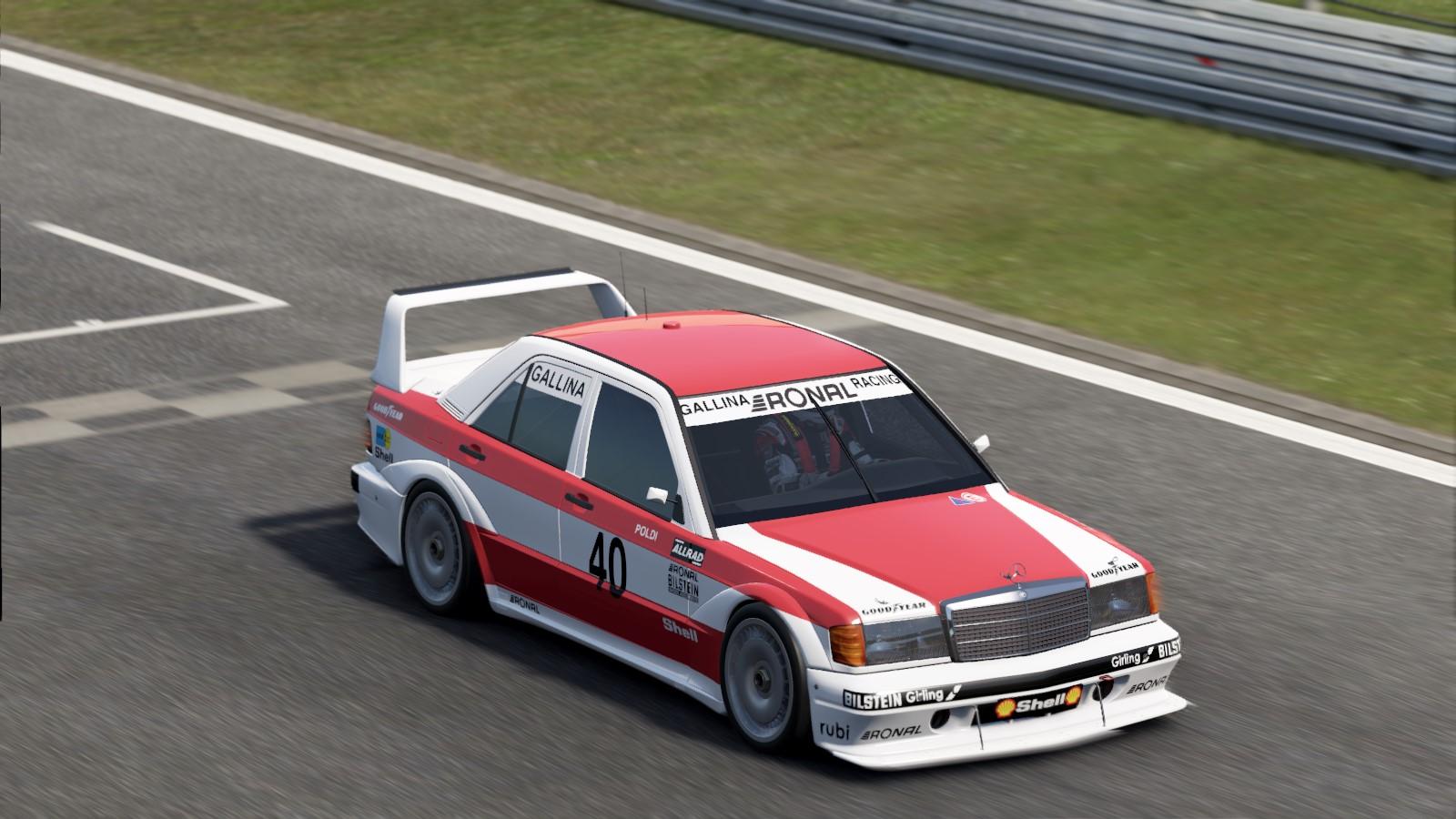 1986 DTM Leopold Gallina Mercedes 190E