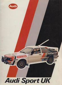 Audi Sport UK Folder Cover 1982