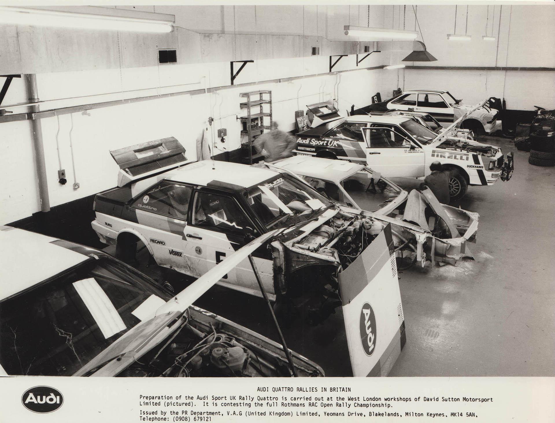 Audi Sport UK Press Release 18/02/1982