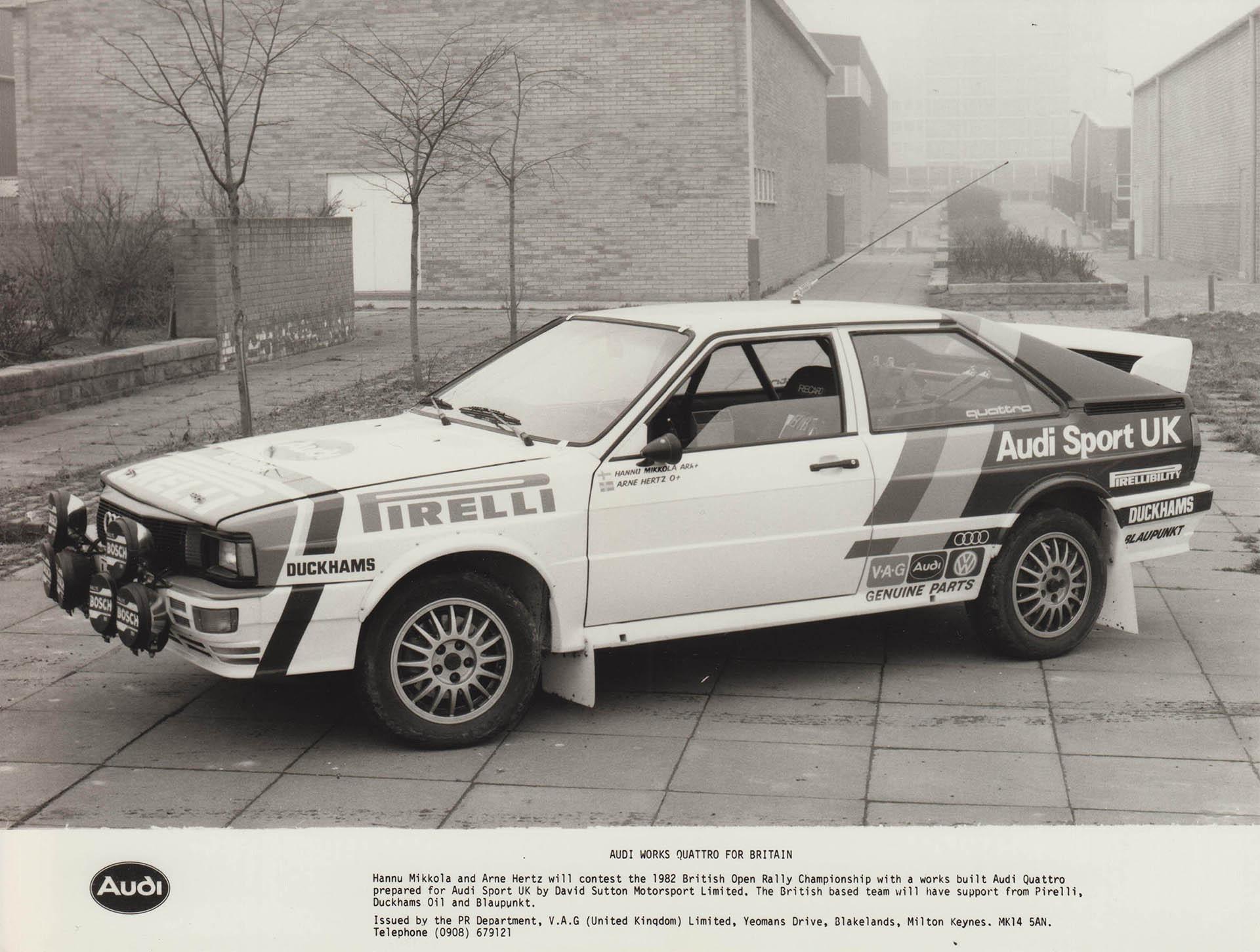 Audi Sport UK Press Release 23/02/1982