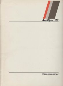 Audi Sport News 1983 Folder