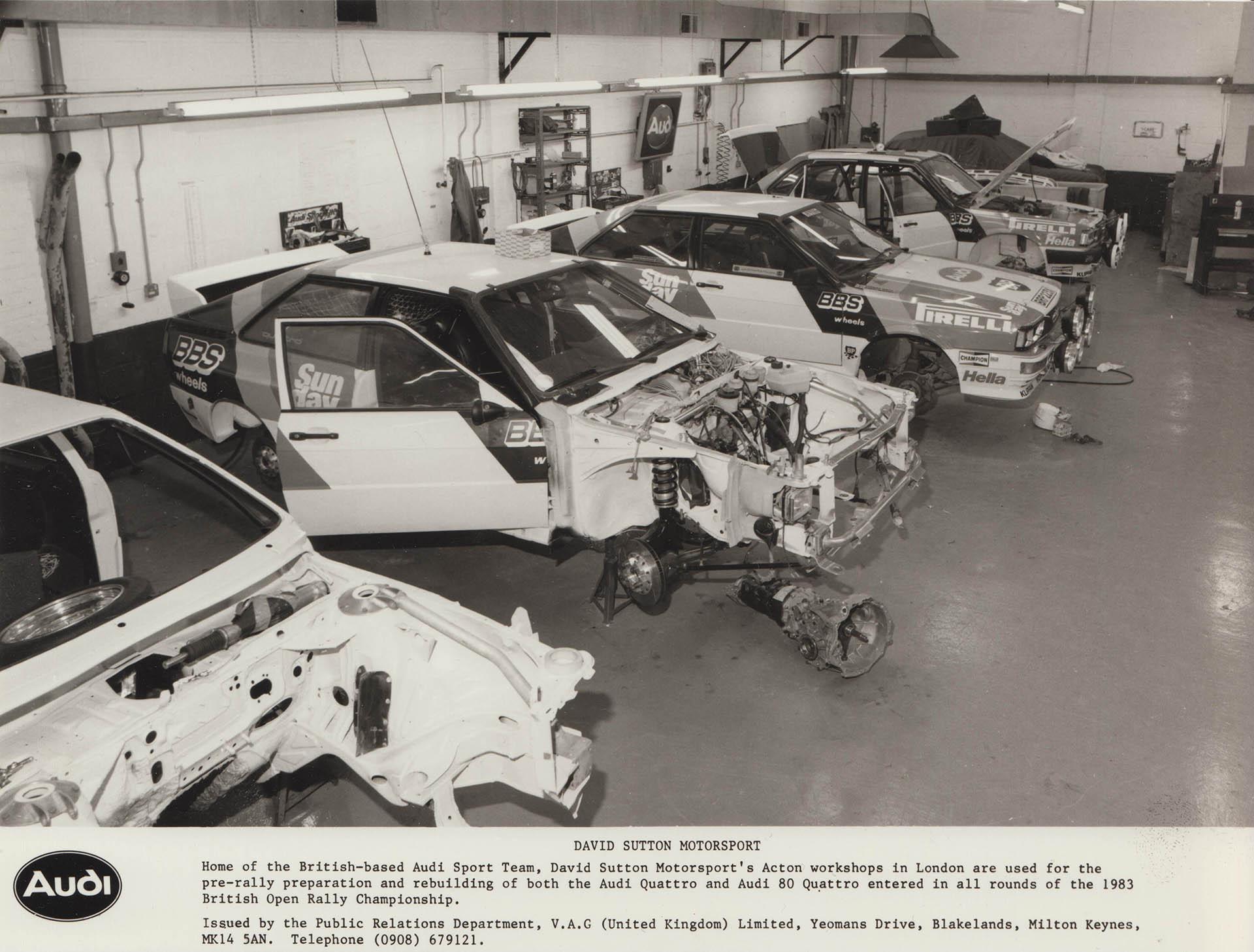 Audi Sport UK Press Release 02/03/1983
