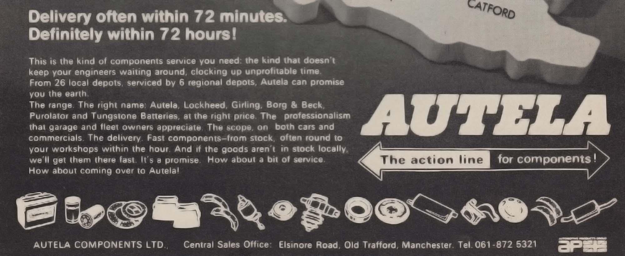 Autela Components Advert 1972
