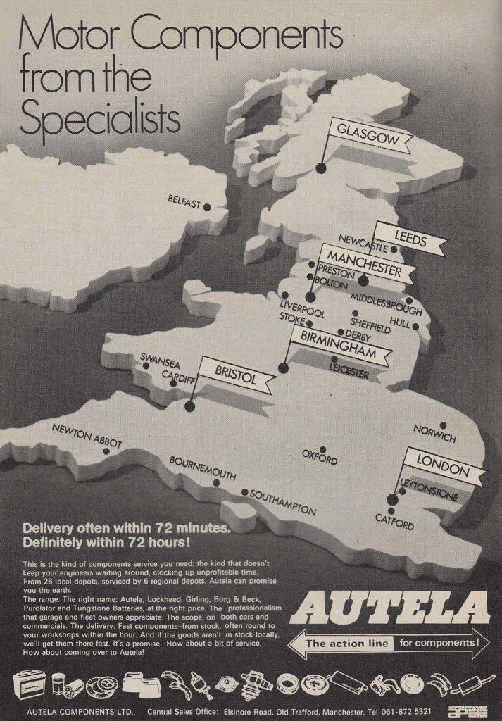 Autela Components Ltd Advert 1972