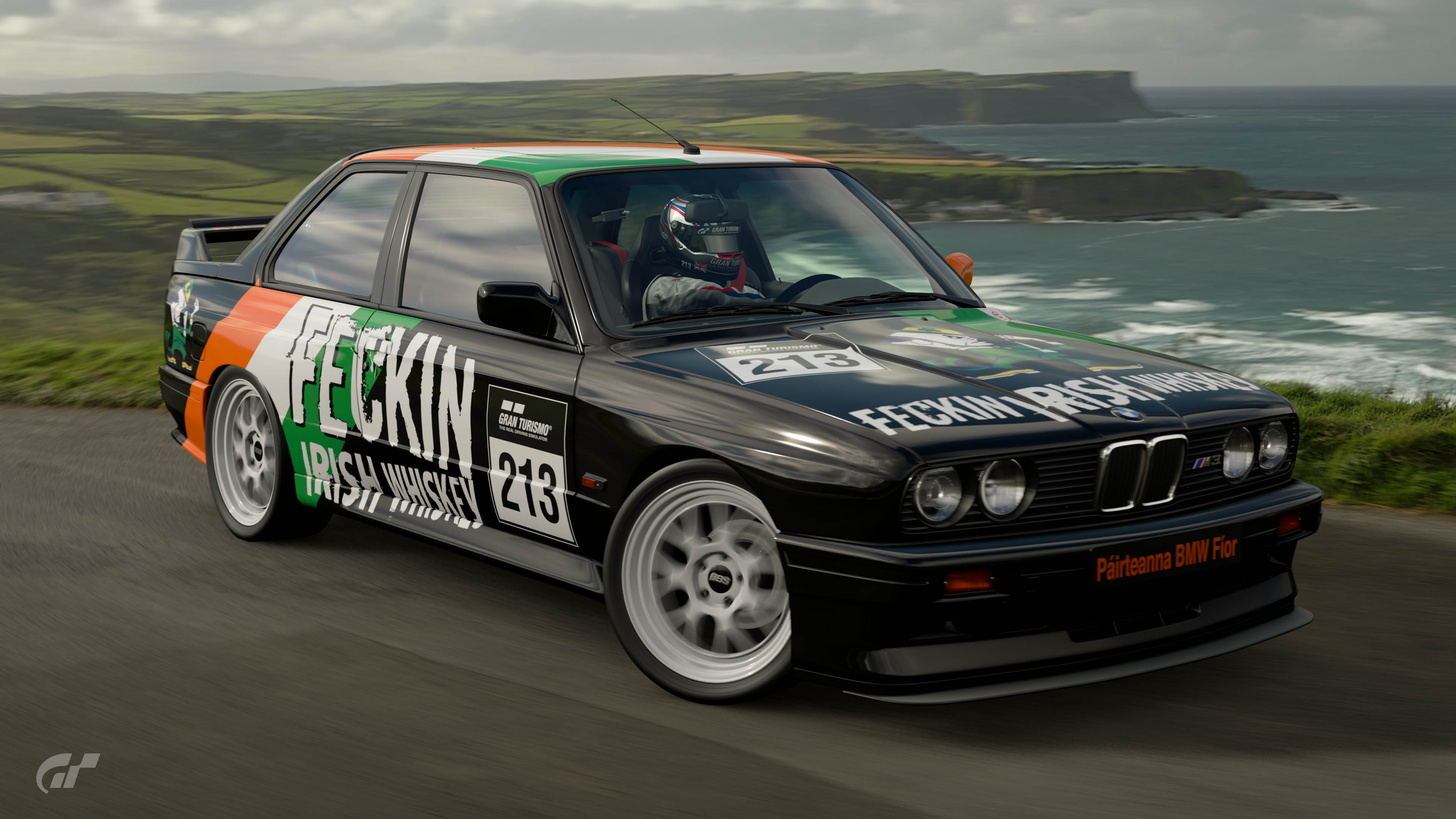 Feckin Irish Whiskey BMW M3 Livery