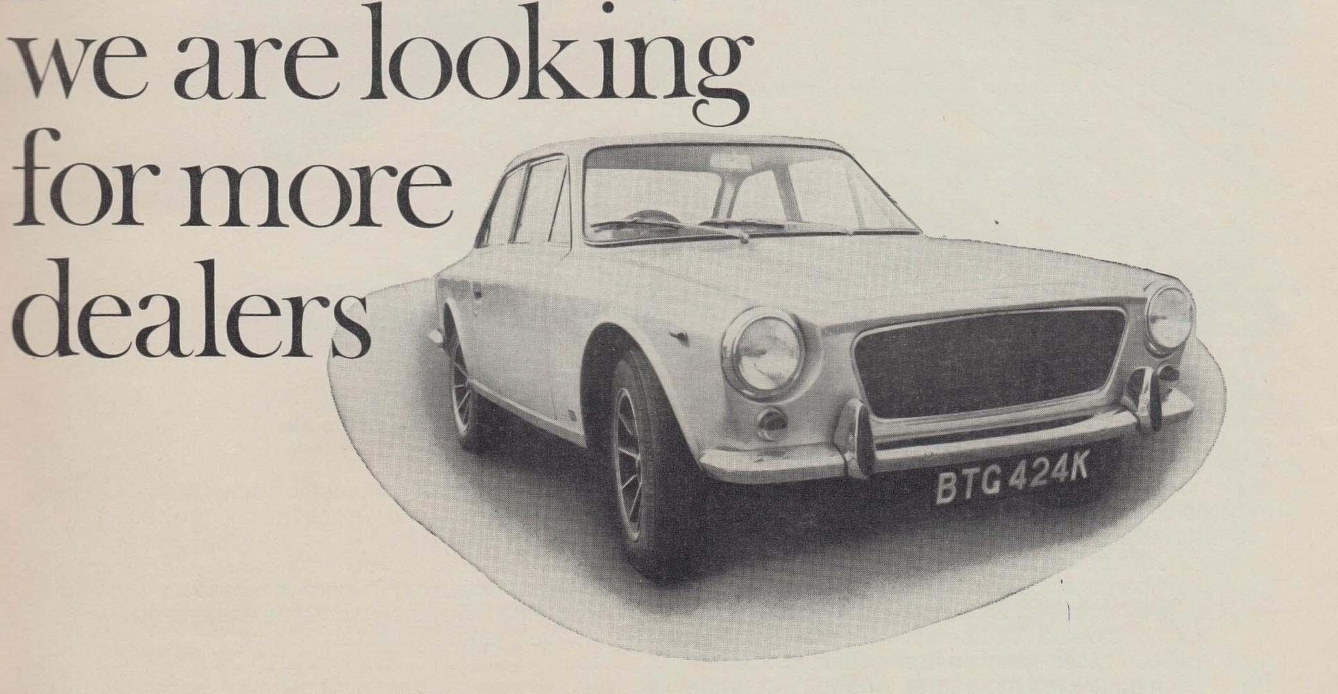 Gilbern Invader Dealer Advert 1972