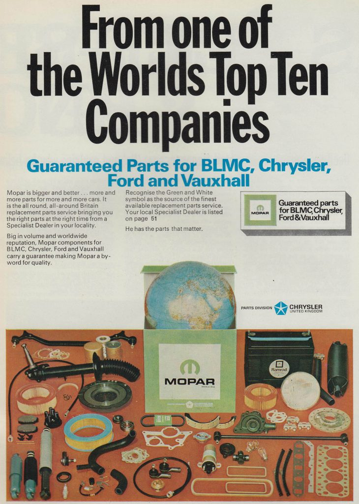 1972 Mopar Parts Advert