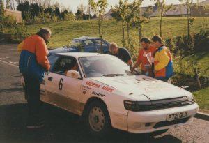 1992 Centurion Rally Richard Mawson and Tom Herron Toyota Celica GT-4
