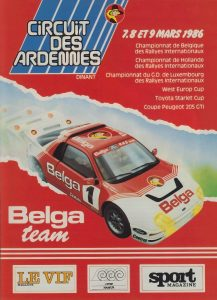 Belga Team - Circuit des Ardennes Advertisement 1986